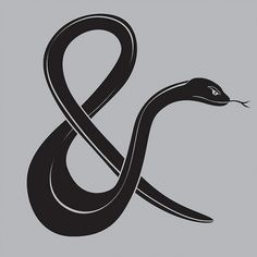 5705027878_f906b04606_z.jpg 640×640 pixels #illustration #typography #type #ampersand #snake