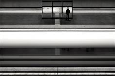 Kai Ziehl | PHOTODONUTS PHOTOGRAPHY INSPIRATION #train #white #photo #black #and
