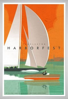 J Fletcher Design – Graphic Design & Art Direction – Charleston, SC » Charleston Harbor Fest #poster