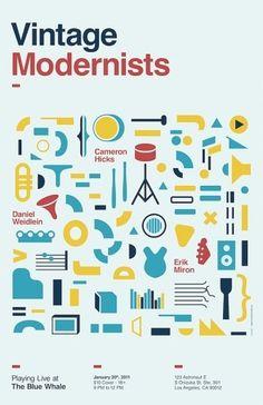 Vintage Modernists Poster