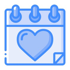 See more icon inspiration related to calendar, time and date, valentines day, lovely, february, romanticism, romantic, date and love on Flaticon.
