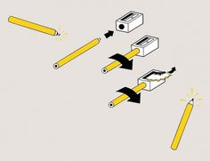 We Love Infographics — How to sharpen a pencil by Lindsay J. Haynes #dataviz #text #j #infographics #we #illustration #haynes #lindsay #love #no