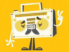 Dribbble - The Sounds of Peace by Chris Sandlin #illustration #boombox #shirt