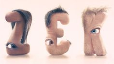 Alphabet Typography Design Inspiration By JC Debroize #font art #typography