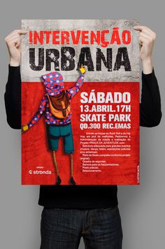 Cartaz Intervenção Urbana on Behance #moodboard