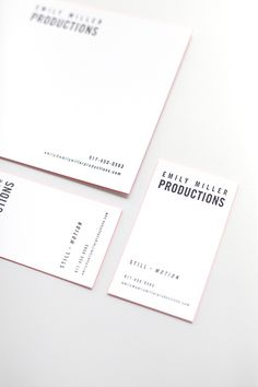 Emily Miller Productions #print #branding #stationary