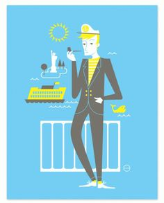 Eight Hour Day » New York Set Art Prints #nate #illustration #ehd