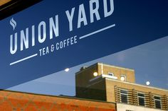 Matthew Hancock #logo #logotype #tea #coffee #window #signage #marque #the click #union yard #norwich #matthew hancock