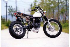 A Beard - Yamaha TW200 custom #moto #yamaha