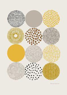 Circles print by EloiseRenouf #pattern #handdrawn #texture