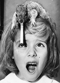 DWIM 3612 #girl #photo #cigarette #head #hair #squirell #confusion