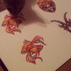 .@catfly | xd0xa0xd1x8bxd0xb1xd0xb0xd1x87xd0xb8xd0xbc xd1x82xd1x83xd1x82:) | Webstagram - the best I #illustration #drawing #art