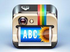 Overgram iPhone App Icon — Stage 3 #overgram #dribbble #icon #camera #design #over #iphone #app