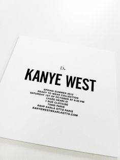 KanyeWest Invitation