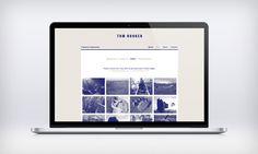 Tom Hooker #photo #monotone #design #photography #passport #blue #layout #web