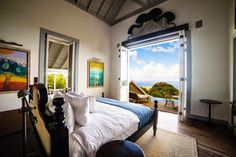 Belle Mont Farm in Caribbean #interior #design #bedroom