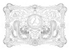 Ginger Monkey :: Tom Lane :: Illustration :: Design :: Typography :: Year of the Dragon #jordan #dragon #sketch