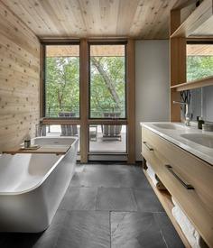 bathroom, Searl Lamaster Howe Architects