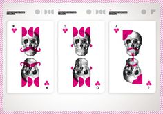 Playing_Cards on the Behance Network #graphic design #skull #playing cards