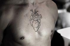 Kamil Czapiga #heart #tattoo #lines