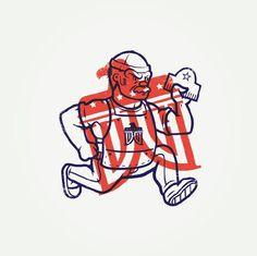 Detroit Wood Type Co. Mascot
