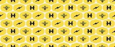 Honeycomb - benolsem #olsem #pattern #icon #brand #lightning #honey #comb #ben