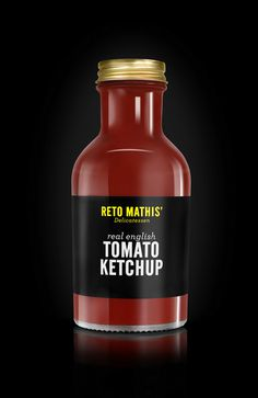 Reto Mathis' Ketchup #red #ketchup #bottle #packshot #black #mathis #glass #tomato #reto