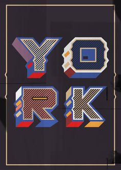 York by Blake E. Marquis on Behance #lettering