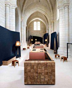 Ancient Monastery Transformed Into a Magnificent Hotel and Restaurant modern decor reinterpretation saint lazare interior #restaurant #hotel