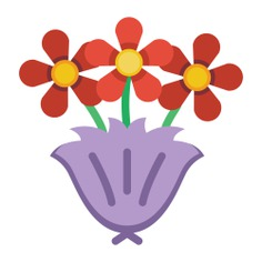 See more icon inspiration related to bouquet, birthday and party, love and romance, botanical, roses, blossom, flowers and nature on Flaticon.