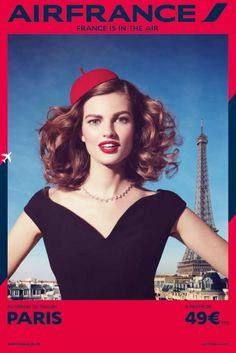 Air France Ad Campaign Spring/Summer 2014 #paris #campaign #air #france #ad