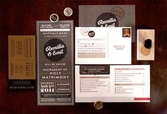 design work life » cataloging inspiration daily #invitations #brown #wedding #branding