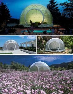 Lightweight Living: Global 4-Season Geodesic Dome Homes | Designs & Ideas on Dornob #dome #geodesic #season #homes