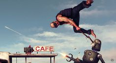 """""""Attack from Sector 12"""". #scime #cafe #illustration #anthony #robots"""
