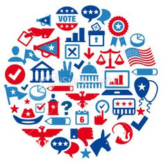Election Concept Color Royalty Free Stock Vector Art Illustration #political #icons