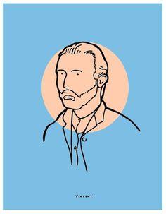 Vincent - Michael Constantine #gogh #van #michael #illustration #vincent #constantine