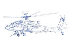 Vector line work - Helicopter Illustration by Zach Johnson