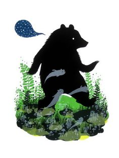 Ghost Bear print by Diana Sudyka #illustration #poster #bear