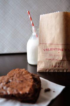 Twig & Thistle » DIY Valentine's Day Brownie Bags