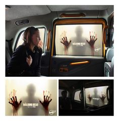 The Walking Dead Campaign on the Behance Network #blood #red #campaign #advertising #taxi #walking #dead #zombies
