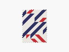 France #stamp #graphic #maan #geometric #illustration #minimal #2014 #worldcup #brazil