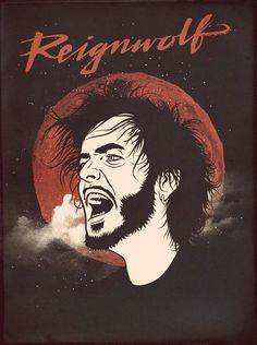 PORTRAITS RONLEWHORN INDUSTRIES #werewolf #gig #illustration #portrait #poster #musician