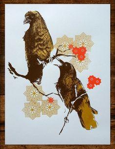Alex Perez #alex #two #birds #illustration #perez #blue