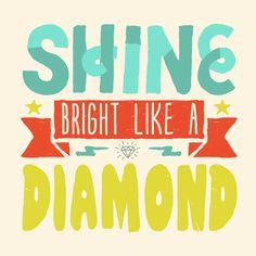 Like a Diamond Art Print #drawn #rihanna #hand #typography
