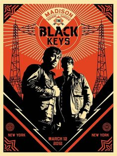 Shepard Fairey 'The Black Keys' Prints - mashKULTURE #black #the #poster #obey #keys