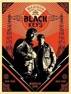Shepard Fairey 'The Black Keys' Prints - mashKULTURE #black #the #poster #obey #keys
