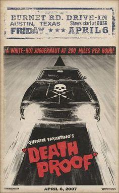 Posters de GrindHouse: Death Proof y Planet Terror   Tepasmas.com - Curiosidades de Cine #death proof