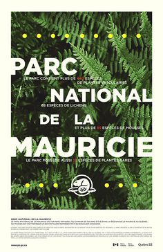 Poster for a national park in Canada #plants #park #poster #outdoor #typography
