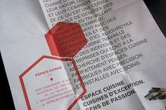 ESPACE CUISINE : Sébastien Bisson #brochure #layout #octagon #poster