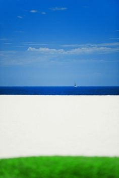 Serge Hamad - Beach (6) for Sale | Artspace #white #print #contemporary #photography #summer #blue #beach #green